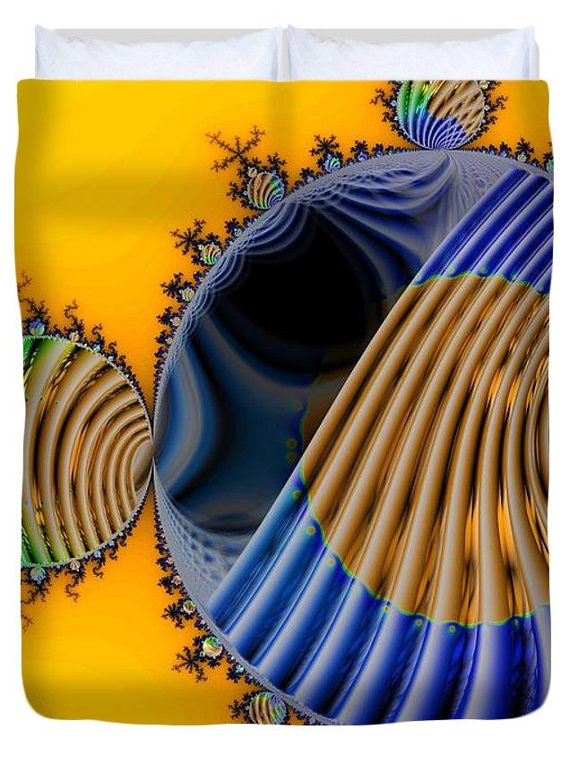 Julia Fractal Duvet Cover featuring the digital art Thru a Julia Lens by Ron Bissett