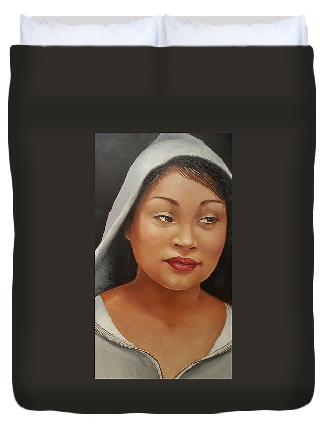 Portrait Of Troubled Youth Duvet Cover featuring the painting Thug Dreams by Jerrold Carton