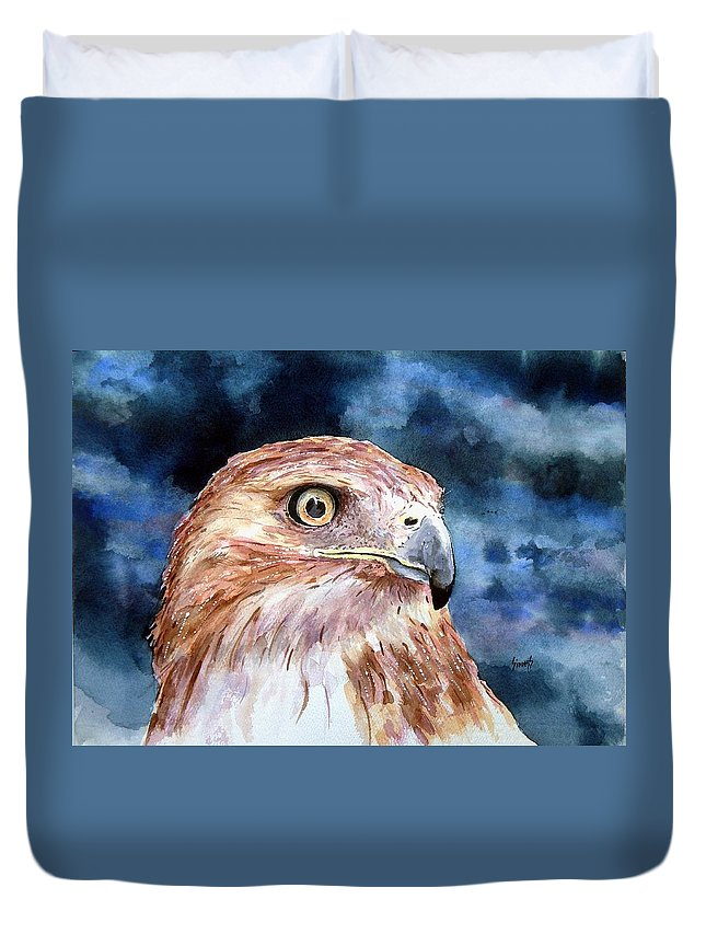 Bird Duvet Cover featuring the painting Thunder by Sam Sidders