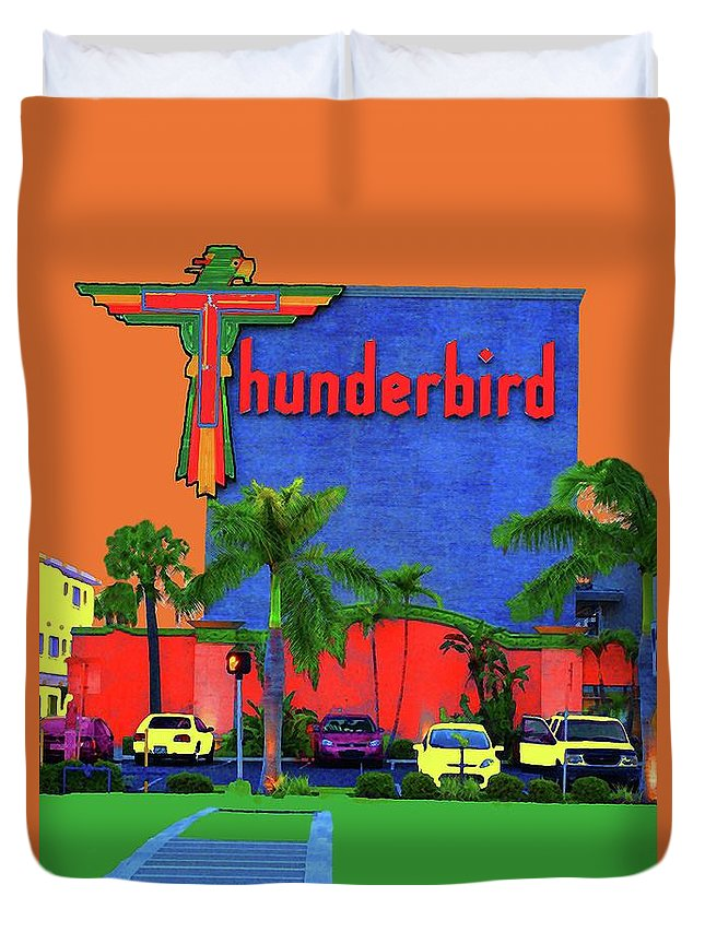 Thunderbird Duvet Cover featuring the photograph Thunderbird by Jost Houk