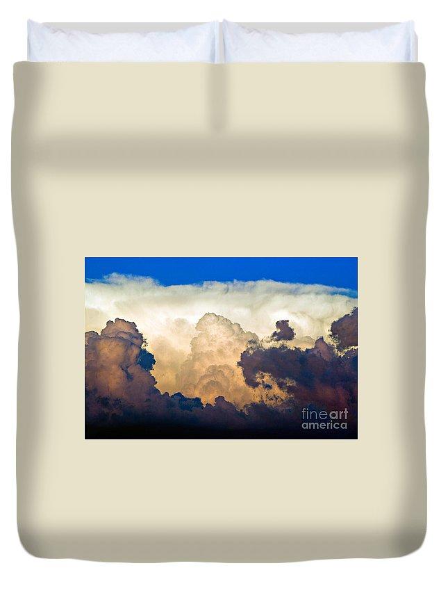 Thunderhead Duvet Cover featuring the photograph Thunderhead Cloud by James BO Insogna