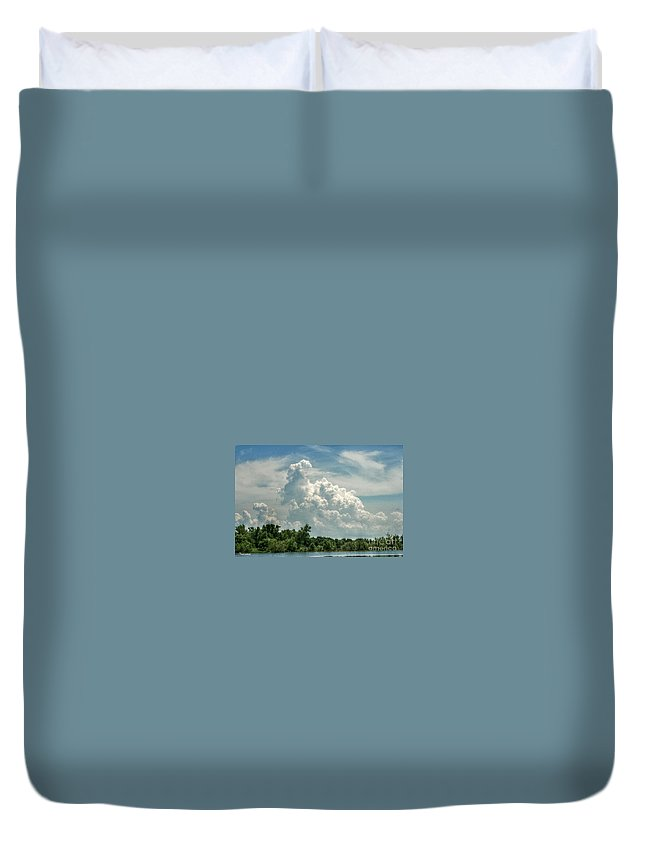 Thunder Duvet Cover featuring the photograph Thunderheads Abound by Eric Newcom