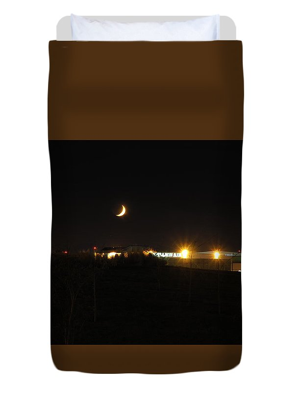 Night Photography Duvet Cover featuring the photograph Thursday October 15 2015 by Darrell MacIver