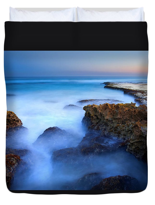Pennington Bay Duvet Cover featuring the photograph Tidal Bowl Boil by Mike Dawson