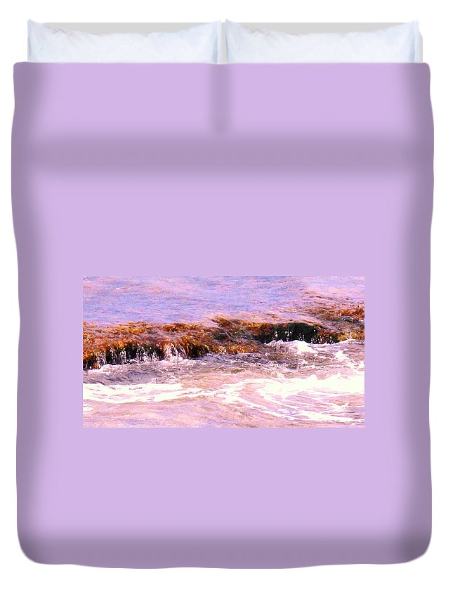 Tide Duvet Cover featuring the photograph Tidal Pool by Ian MacDonald