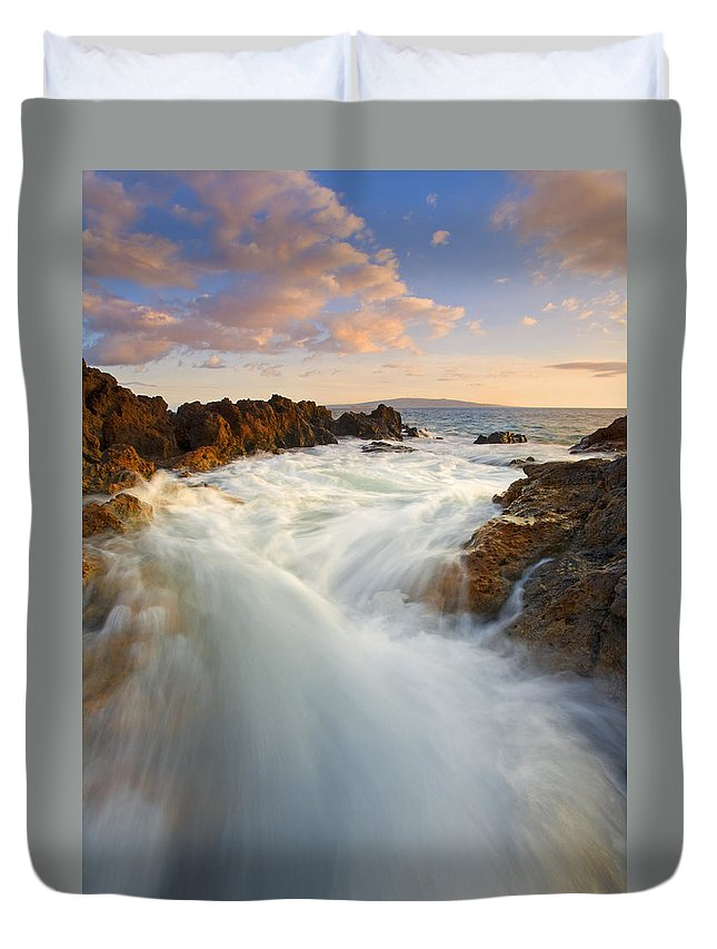 Surge Duvet Cover featuring the photograph Tidal Surge by Mike Dawson