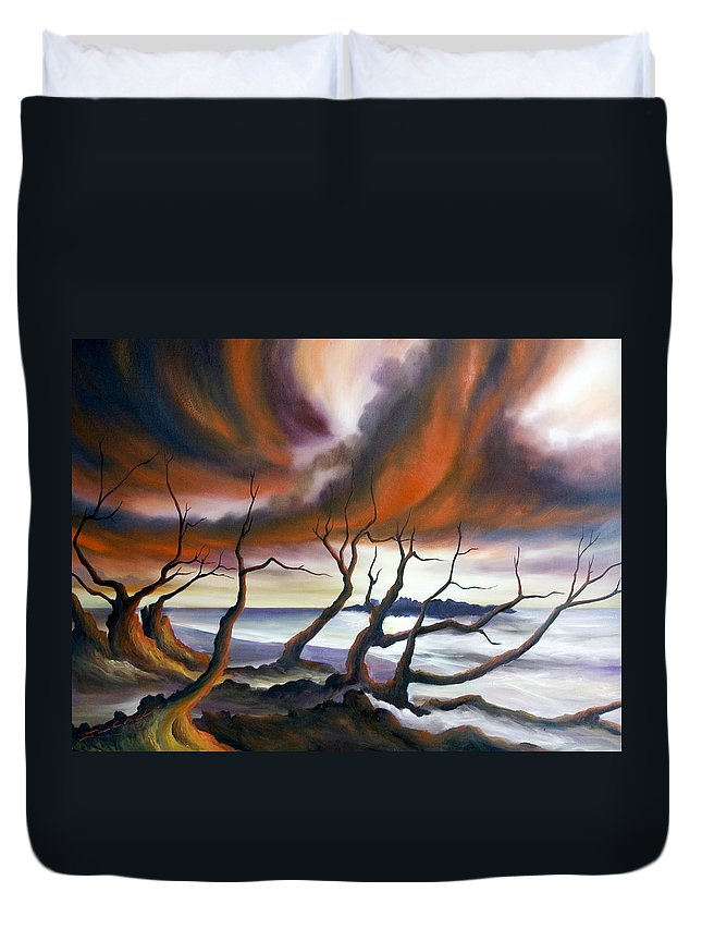 Marsh Duvet Cover featuring the painting Tideland by James Christopher Hill
