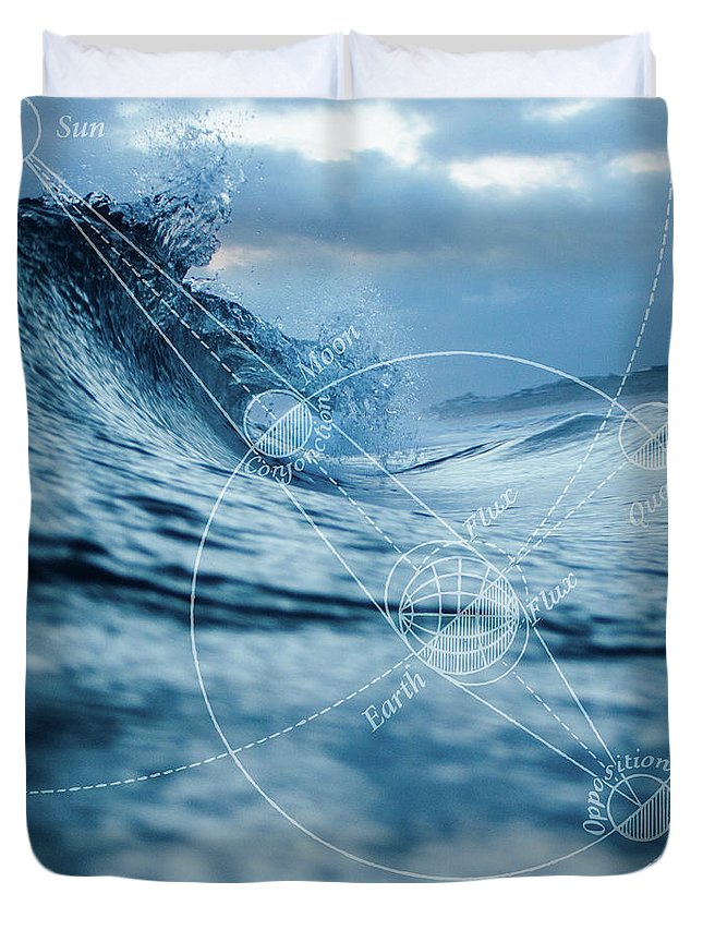 Ocean Duvet Cover featuring the digital art Tides by Roberta Boe