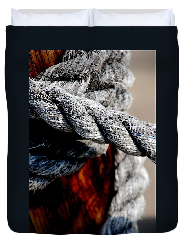 Ropes Duvet Cover featuring the photograph Tied Together by Susanne Van Hulst
