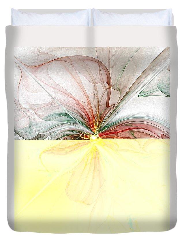 Digital Art Duvet Cover featuring the digital art Tiger Lily by Amanda Moore