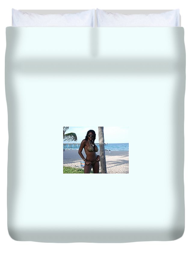 Sand Duvet Cover featuring the photograph Tiger Stripes by Rob Hans