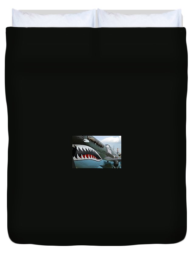 World War Ii Duvet Cover featuring the photograph Tiger Teeth by Lee Gray