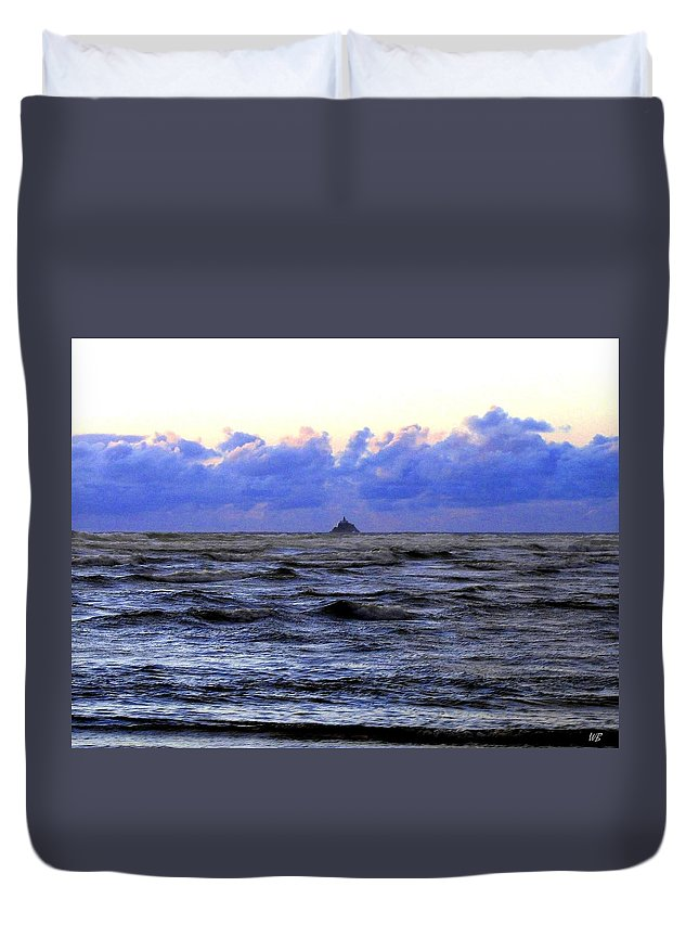 Lighthouse Duvet Cover featuring the photograph Tillamook Rock Lighthouse by Will Borden