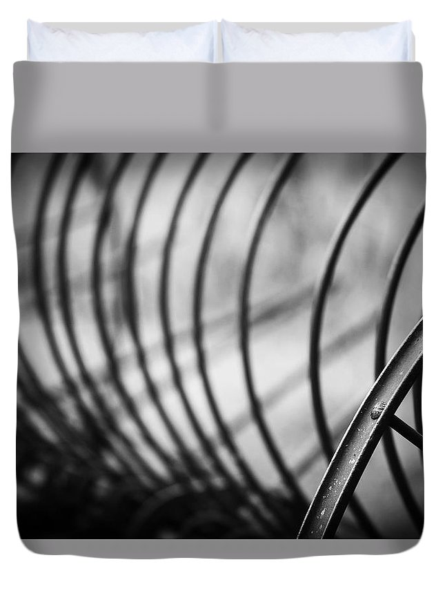 Vintage Duvet Cover featuring the photograph Tiller At The End Of A Day by Toni Hopper