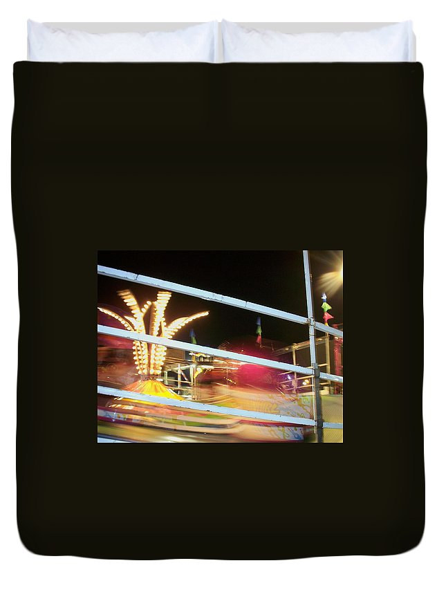 State Fair Duvet Cover featuring the photograph Tilt-a-whirl 2 by Anita Burgermeister