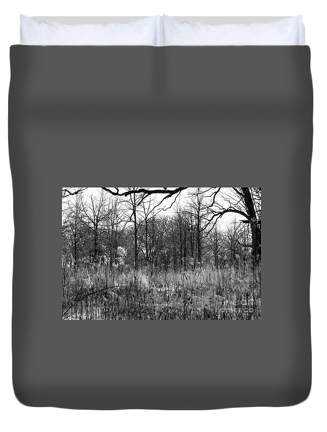 Illinois Duvet Cover featuring the photograph Timberland Infrared No2 by Alan Look