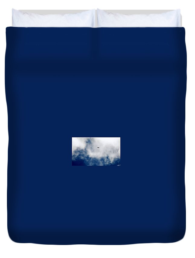 Bird Duvet Cover featuring the photograph Time Flies by Mitchell Pluto