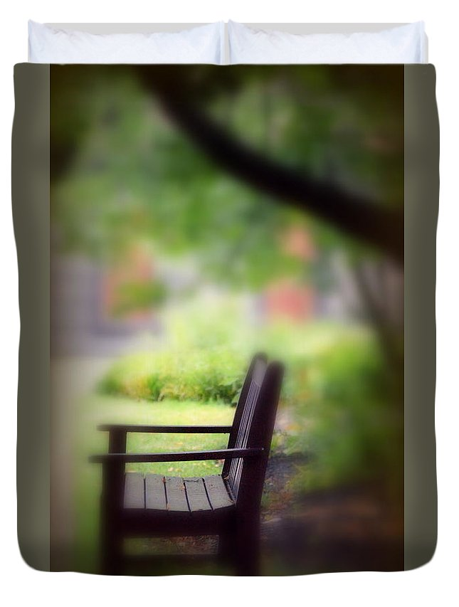 Park Duvet Cover featuring the photograph Time For Reflection by Scott Polley