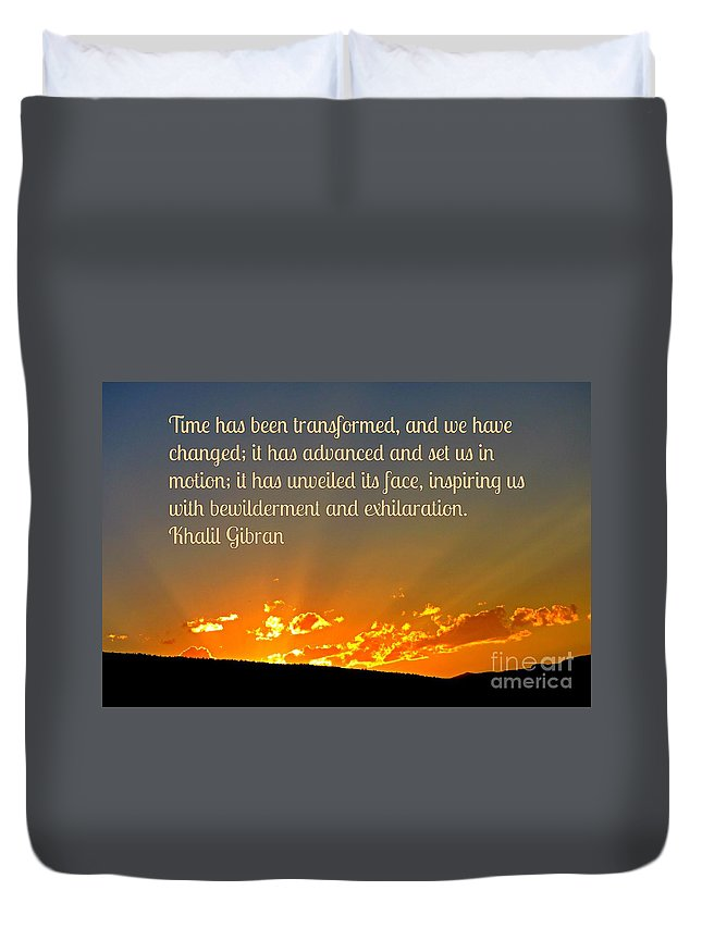 Time Duvet Cover featuring the photograph Time by John Malone