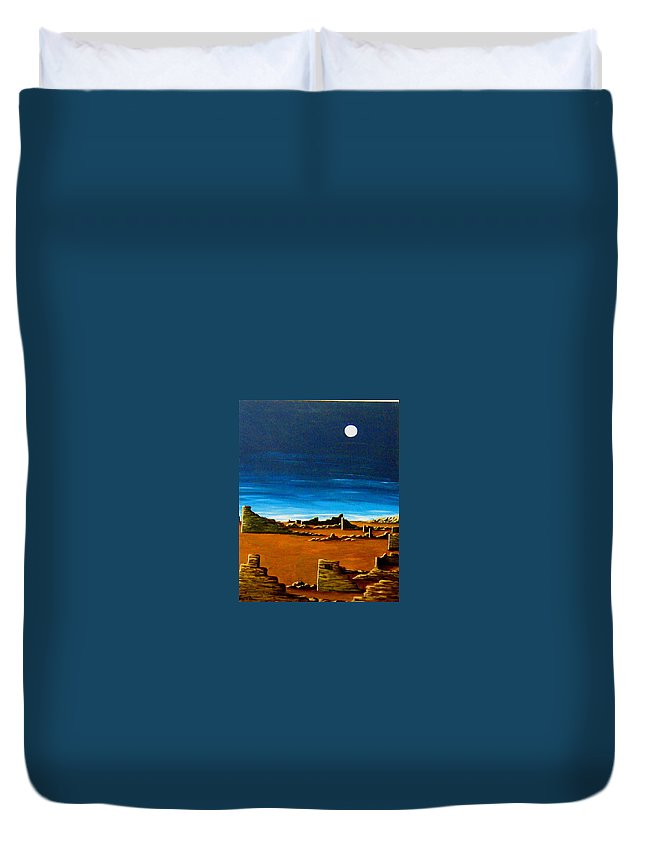 Anasazi Duvet Cover featuring the painting Timeless by Diana Dearen