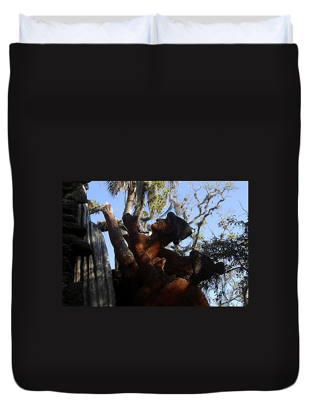 Timucuan Indains Duvet Cover featuring the photograph Timucuan Warriors by David Lee Thompson