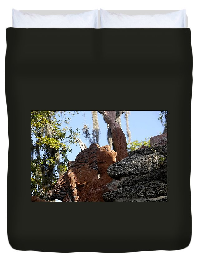Timucuans Duvet Cover featuring the photograph Timucuans by David Lee Thompson