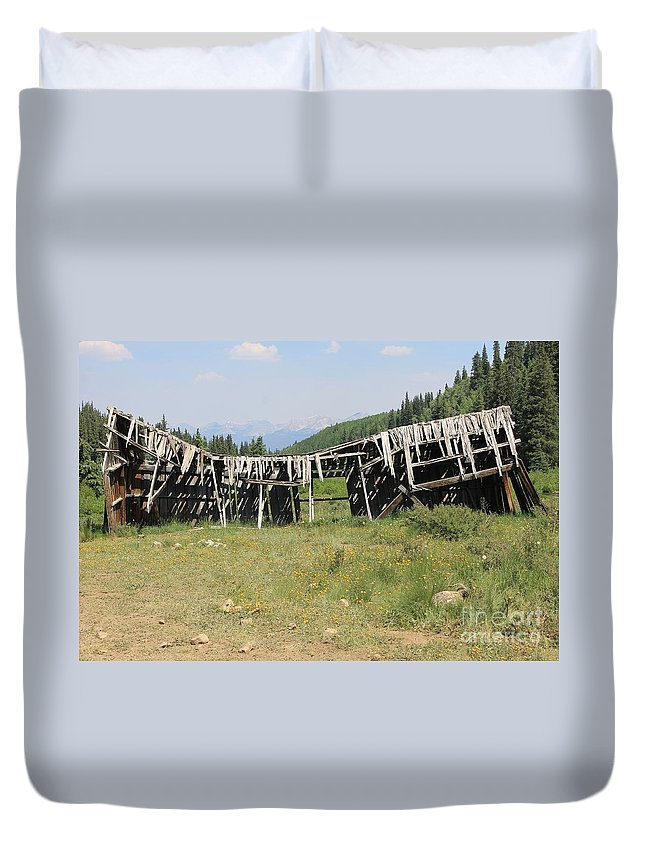 Nature Duvet Cover featuring the photograph Tincup History 4 by Tonya Hance