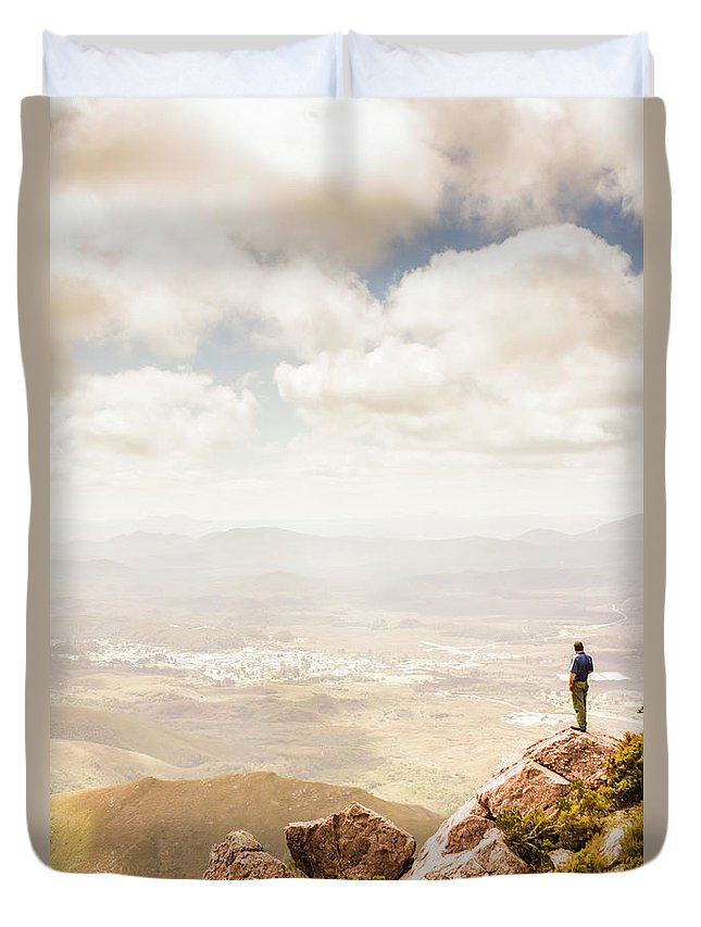 Australia Duvet Cover featuring the photograph Tip Of Mt Zeehan Tasmania by Jorgo Photography - Wall Art Gallery