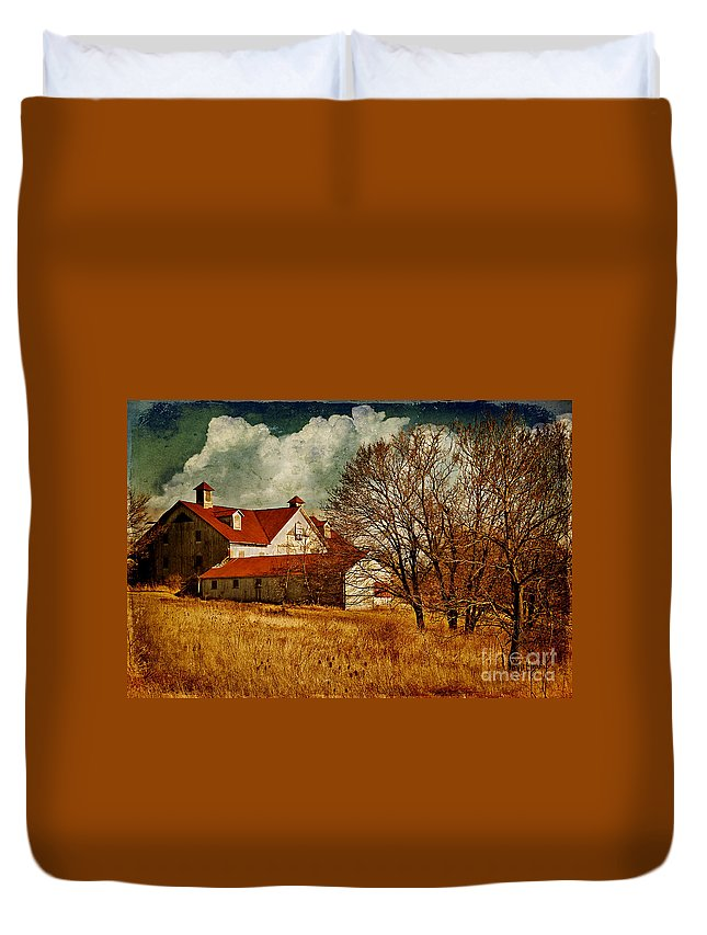Barns Duvet Cover featuring the photograph Tired by Lois Bryan