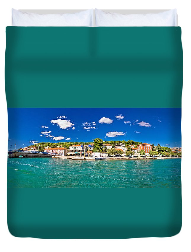 Murter Duvet Cover featuring the photograph Tisno Panoramic View From Murter Island by Brch Photography