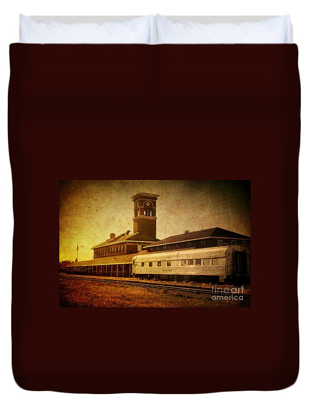 Titletown Duvet Cover featuring the photograph Titletown Brewing Company by Joel Witmeyer