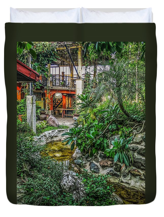 Garden Duvet Cover featuring the photograph Tito Nonet's Place 1 by Mark Sellers