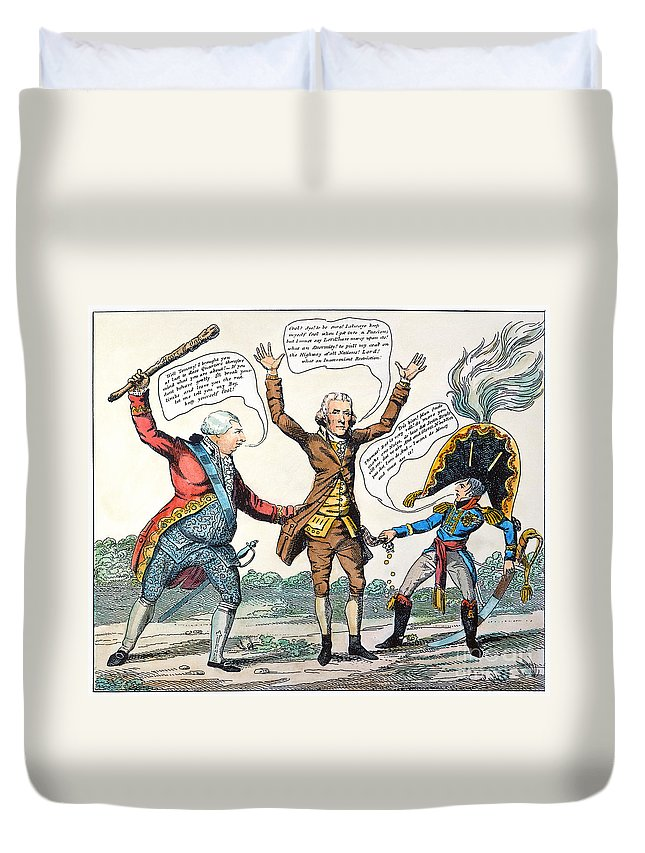 1807 Duvet Cover featuring the photograph T.jefferson Cartoon, 1809 by Granger