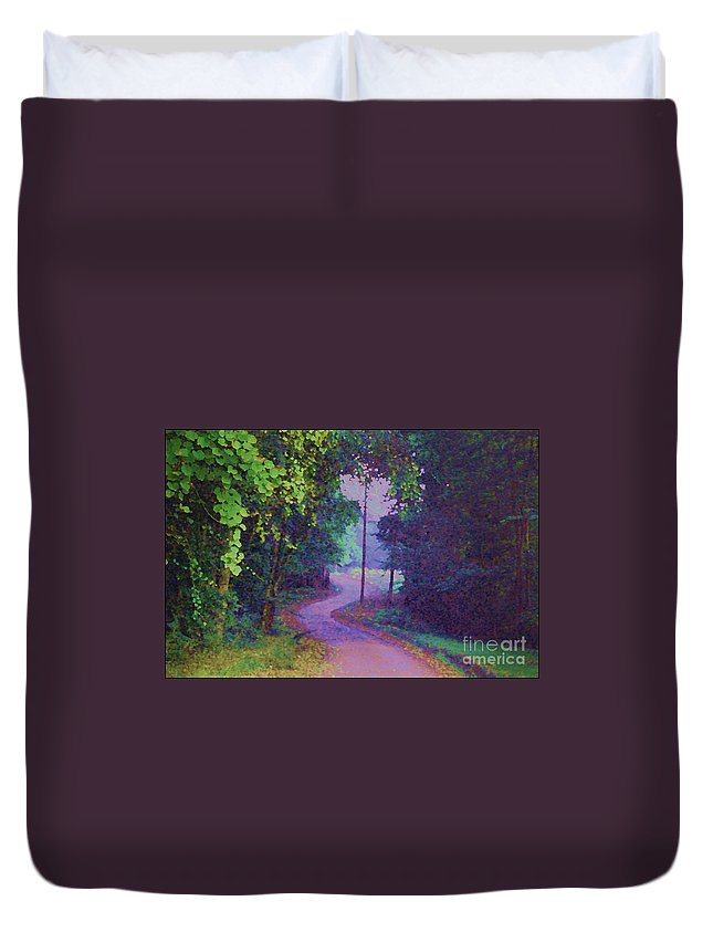 Road Duvet Cover featuring the photograph To Grandma's House by Donna Bentley