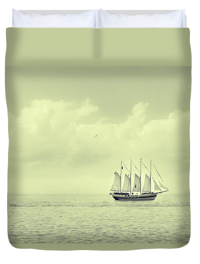 Ship Duvet Cover featuring the photograph To Hold Time In Your Hand by Dana DiPasquale