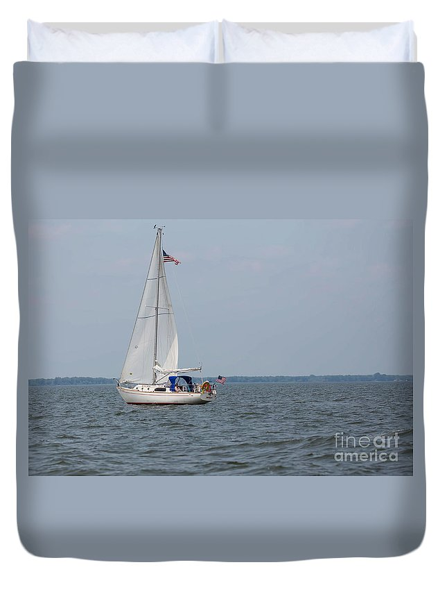 Sailing Duvet Cover featuring the photograph To Infinity And Beyond by Nikki Vig