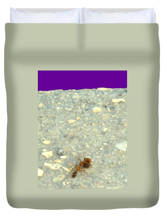 Ant Duvet Cover featuring the photograph To The Edge by Ian MacDonald