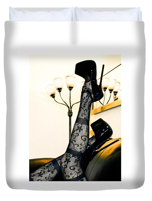 Duvet Cover featuring the photograph To The Point by Maddison Savage