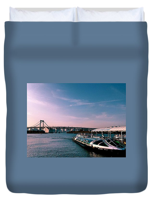 Landscape Duvet Cover featuring the photograph To The Space From Sea by Momoko Sano