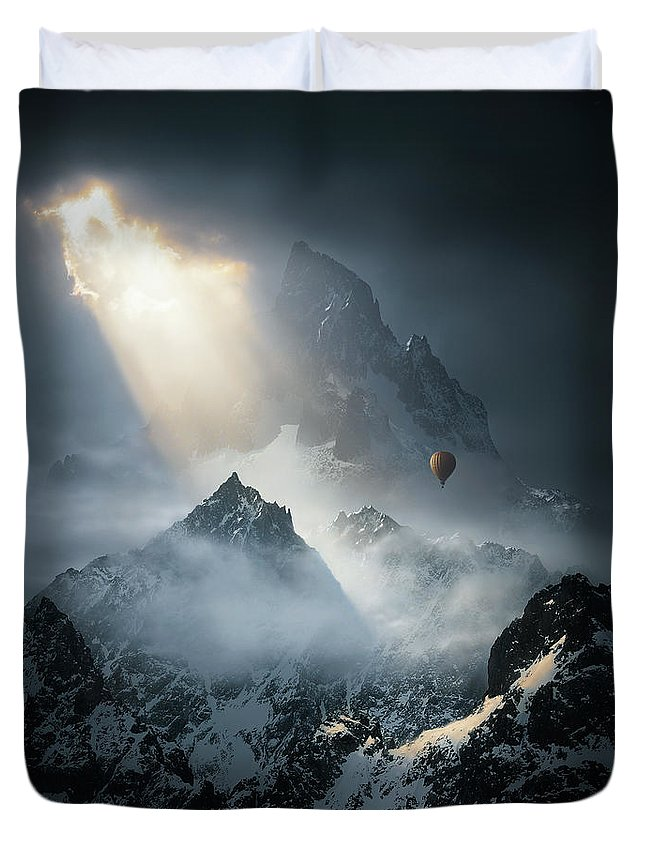 Mountains Duvet Cover featuring the photograph To The Threshold of SIlence v2 by Michal Karcz