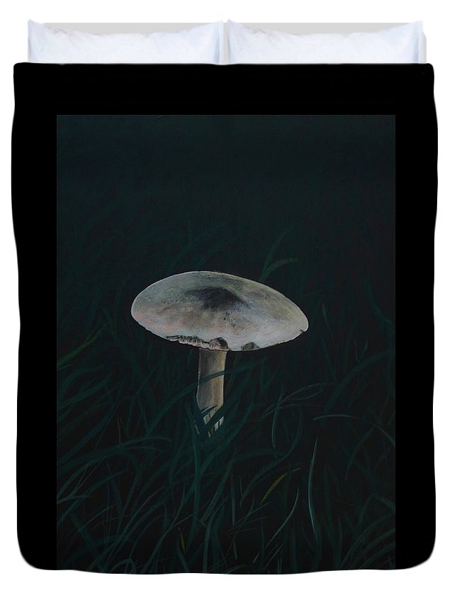 Painting Of A Toadstool Duvet Cover featuring the painting Toadstool by Martine Murphy