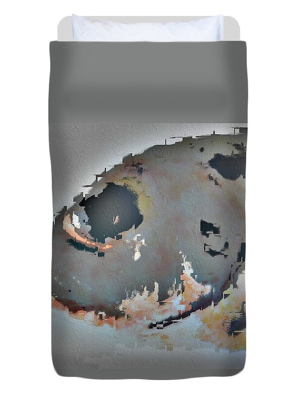 Fish Duvet Cover featuring the photograph Toau Abstract by Dorlea Ho