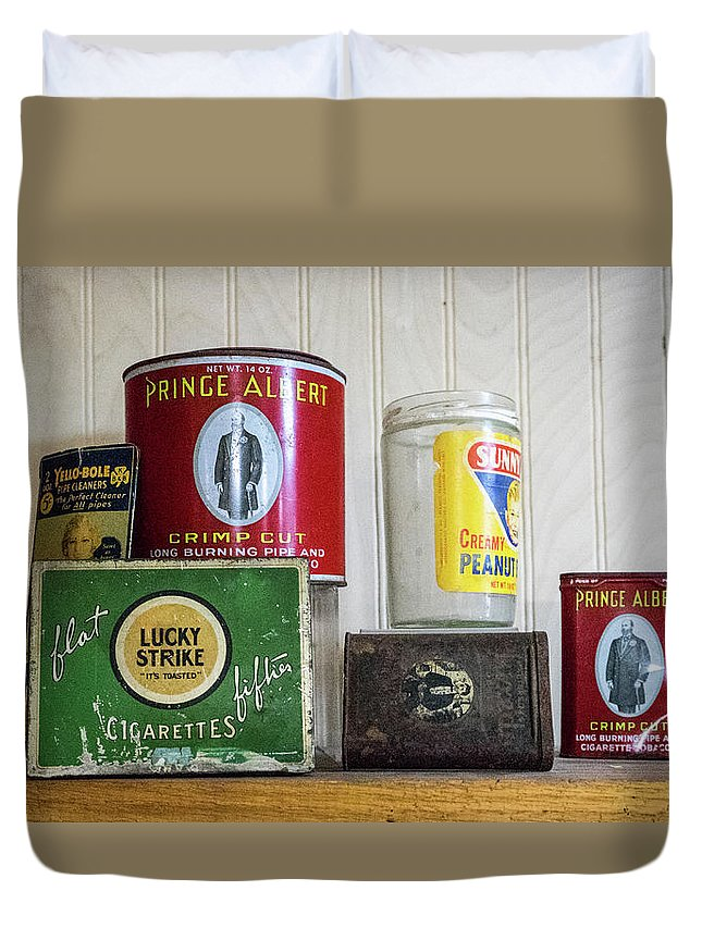 Tobacco Duvet Cover featuring the photograph Tobacco Coffee and Peanut Butter by Douglas Barnett