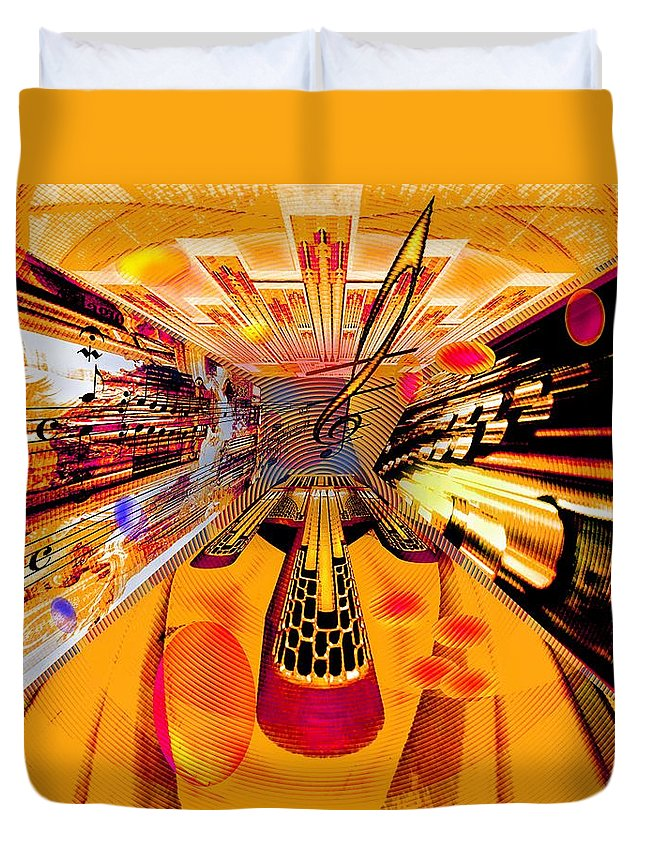 Toccata Duvet Cover featuring the digital art Toccata- Masters View by Helmut Rottler