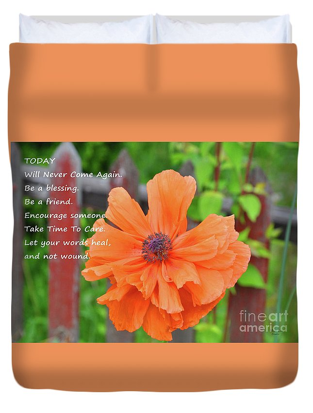 Today Duvet Cover featuring the photograph Today by Wanda-Lynn Searles