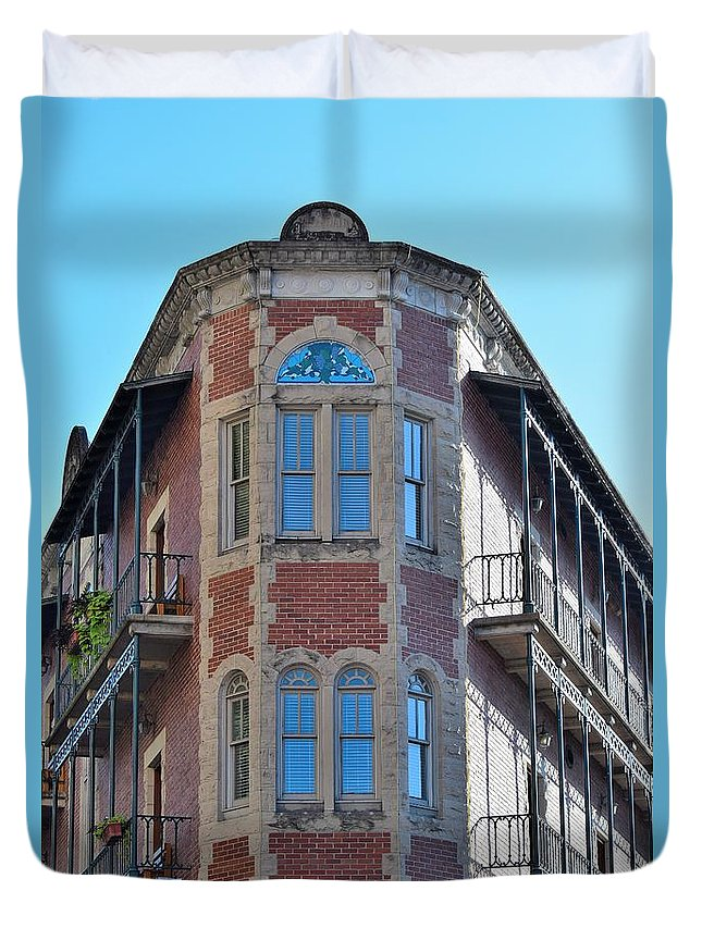 Buildings Duvet Cover featuring the photograph Todays Art 1258 by Lawrence Hess