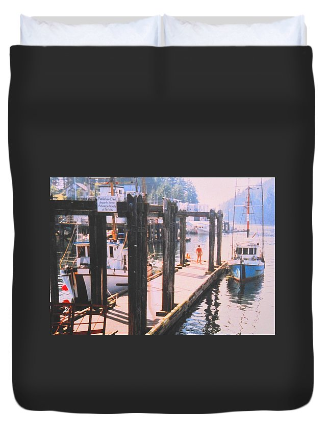 Tofino Duvet Cover featuring the photograph Tofino by Ian MacDonald