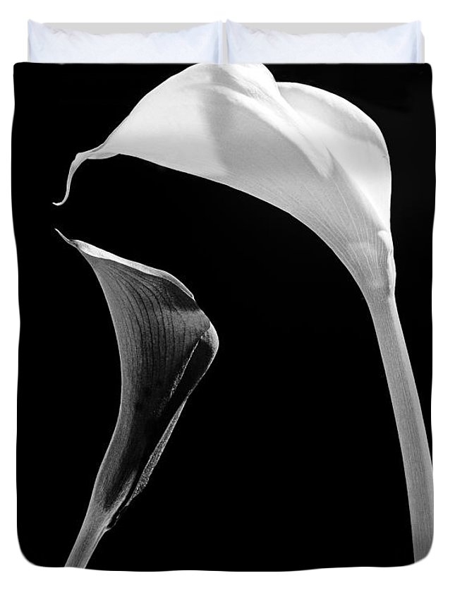 Flowers Duvet Cover featuring the photograph Together by Casper Cammeraat