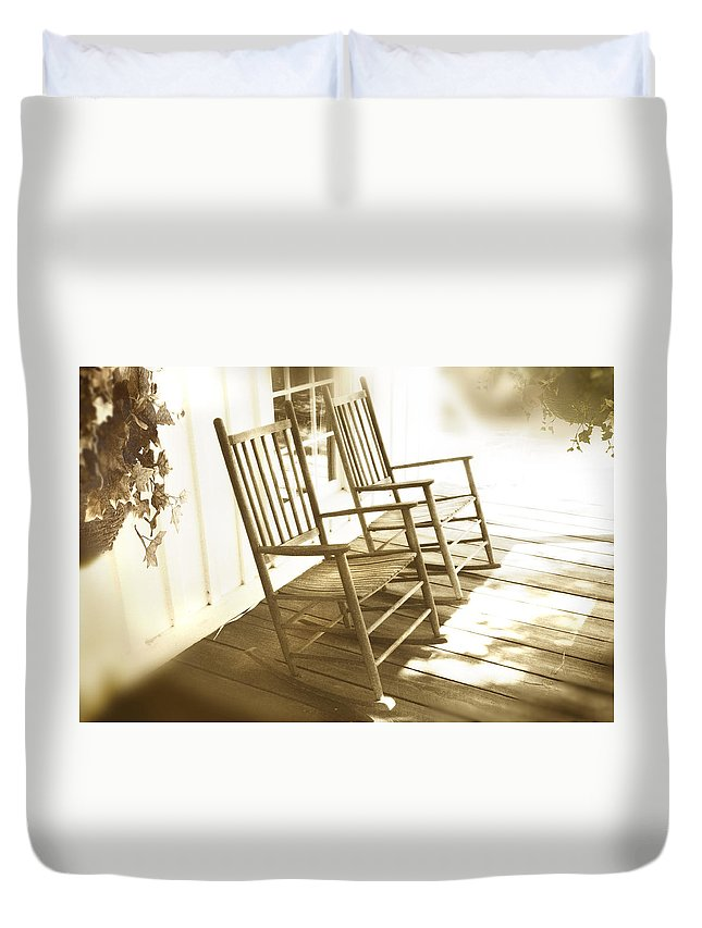 Together Duvet Cover featuring the photograph Together by Mal Bray