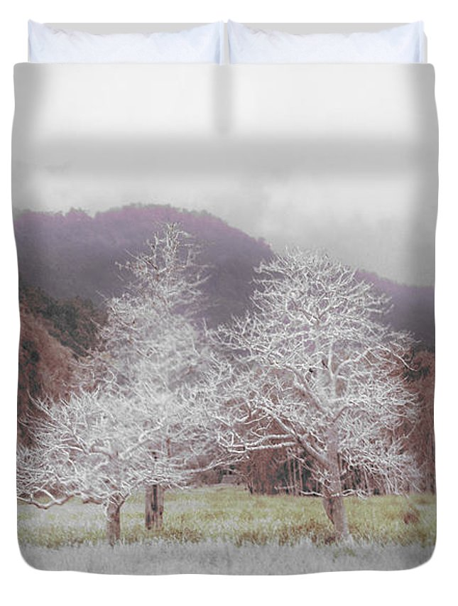 Landscape Duvet Cover featuring the photograph Together We Stand by Holly Kempe